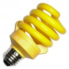 TCP 48918Y - Full SpringLamp CFL - 18 Watt - Medium (E26) Base - 75W Incandescent Equivalent - Yellow Spiral Bug Light Bulb - 12 Packs
