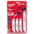 Milwaukee 49-22-0220 - 10 PC HACKZALL Blade Set