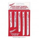 Milwaukee 49-22-1168 - Universal Shank Metal/Wood Cutting Jig Saw Blade Assortment - 5 Packs