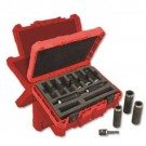 "Milwaukee 49-66-4484 - SHOCKWAVE 1/2"" Deep Well Socket Set (9 PC)"