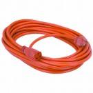 25 FT Power Extension Cord, Heavy Duty, 16AWG, Indoor/Outdoor Use,CUL SJTW, Orange
