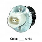 Leviton 523 - Standard Fluorescent Lampholder - High-Output Base - Double Contact - Snap-In - Plunger - Quickwire 18AWG Solid or Str Tinned - White
