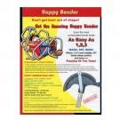 "Rack-A-Tiers 57050Lab - Handle Label Hoppy Bender 1/2"""