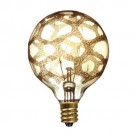 Bulbrite 144024 - 25W - Amber Marble - G16.5 - E12 Candelabra Base - 120V - Crystal Collection - 12 Packs