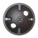 Satco 60-676 - 2 Light Die Cast Mounting Plate - Dark Gray Finish