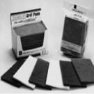 "ALLTEMP 61-70186 - Nylon Abrasive Grit Hand Pads - 2"" × 6"" Nylon abrasive pads - Black - Fine Grit - 2/ carded"