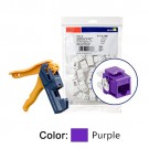 Leviton 61110-JP6 - Extreme Cat 6 QuickPort Connectors - Purple - 150PK - Kitted with Jack Rapid Tool
