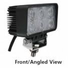 "Techspan 725230 - LED 4""x2"" Rectangular Tractor/Utility Lamps – 10-30VDC 18W 1140Lumens - Flood - Aluminum - 2 PACKS"