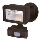 "Satco 76-505 - 1-Light 5"" Mini Halogen Outdoor Security Flood Light with Motion Sensor - 150 Watts - Type J 78mm Bulb - DE Base - Bronze Finish"