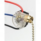 Ideal Industries 774037 - Pull Chain Switch, 3-Speed, SPTT, Brass, Off-On(A)-On(B)-On(A+B)