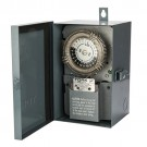 NSI Industries 8001U-O - Many Daily ON/OFF Operations Per Day Duty Cycle 24 Hour Time Switch - Metal Indoor/Outdoor NEMA 3