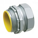 "Arlington 826A - 2-1/2"" EMT Compression Connectors with Insulated Throat - Zinc die-cast - 12 Packs"