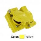 Leviton 85W34-D - 15 Amp - 277 Volt - NEMA L7-15 - 2P - 3W - Locking Duplex Outlet - Industrial Grade - Grounding - Wetguard - Yellow
