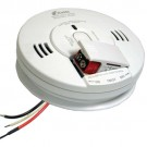 Kidde 900-0213CA ProSeries Talking Alarm - Carbon Monoxide & Photoelectric Smoke Alarm Combination - 120VAC Hardwire with Front Battery Loading Backup