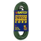 Satco 93-5024 - Heavy Duty Green - Outdoor Extension Cord - 13A - 125V - 25Ft. - Green - 12 Packs
