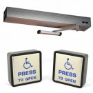 """Hardwire Automatic Door Operator Package for Entrance Door - Includes Ditec HA8-SP 39"""" Header Clear Finish and Larco P4S1U0 Hardwire Push Button Wall Switch Package"""