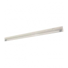 "T4 28W - 46-3/16"" Aluminum Fluorescent Bar - 2-Wire - 3200K Warm White - PC Lens - 6ft Power Cord with Polarized Plug - Liteline ALFT4-28-3200"