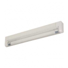 "T4 6W - 9-1/4"" Aluminum Fluorescent Bar - 2-Wire - 4100K Cool White - PC Lens - 6ft Power Cord with Rotary Switch - Liteline ALFT4-6-4100"