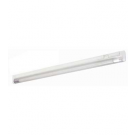 "T5 14W - 22.63"" Aluminum Fluorescent Bar with Built-in ON/OFF Switch - 3-Wire - 4100K Cool White - PC Lens - Liteline ALFT5-14-4100-3"