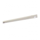 "T5 28W - 46.2"" Aluminum Fluorescent Bar with Built-in ON/OFF Switch - 3-Wire - 3200K Warm White - PC Lens - Liteline ALFT5-28-3200-3"