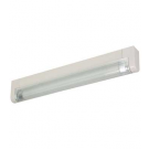 "T5 6W - 9.33"" Aluminum Fluorescent Bar - 3-Wire - 3200K Warm White - PC Lens - Link Connector - Liteline ALFT5-6-3200-3"