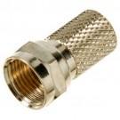 "VISTA B48261 - RG6 Twis-On ""F"" Plug  - 75 OHM - 100/bag - Gold - 100 Pcs"
