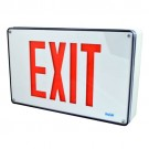 LED Exit Sign - Cast Aluminum - RED Letters - 120/347V - AC Only - Single Face Plate - Universal Mounting - Wet Location IP66 & Vandal Resistant Exit - Beghelli FTZHTLR1UWW-UDC