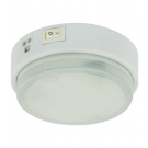 9W Single Compact Fluorescent Puck Light - 3000K Warm White - 120V - Surface Mounted only - Liteline CL-1CF9-WH