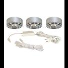 20W Xenon 3-Puck Light Kit - 12V - Chrome - Liteline CL-3JC20X-CH