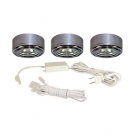 20W Xenon 3-Puck Light Kit - 12V - Pewter - Liteline CL-3JC20X-PT