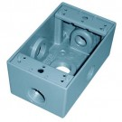 "RAB Design D5616 1/2"" 1 GANG - Weatherproof - 1/2"" Cast Aluminum Junction Box - Silver grey standard finish"