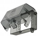 Arlington DBPH1C - 1-Gang Plastic Dri-Box Adapter with Clear Cover and Base - Horizontal Mount