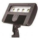Lithonia Lighting DSXF2 LED P2 40K YK M2 - D-Series Size 2 LED Flood Luminaire - P2 - 4000K Cool White - Wide Flood - 78W - 10678 Lumens - 70 CRI - 120-277V - Yoke With 16-3 SO cord - Dark Bronze