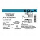 Sola E-724-J-242 - Electronic Ballast - CFM26/32/42 Lamp Wattage - Programmed Rapid Start - 347V