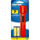 Rayovac EVB2AA-BB - General Purpose Economy Flahslight - 7 Lumens - Beam Distance 121ft - (2) AA Heavy Duty Batteries Included