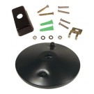 Black Ceiling Canopy Kit - Single Circuit 2 Wire Track System - Liteline CN6250-BK