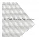 "Liteline K12-14 CA-110 - Clear K12 0.11'' Prismatic Acrylic Plexiglas Lens - 11-3/4"" × 47-3/4"""