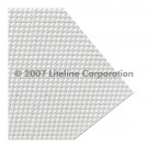 "Liteline K12-14 CA-110F - Clear K12 0.11'' Prismatic Acrylic Plexiglas Lens - 12"" × 48"""