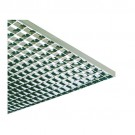 "Liteline PL1-24 SF-S - Satin Silver Plastic Parabolic Styrene Louver (cell size: 1/2"" × 1/2"" × 1/2"") - 23-3/4"" × 47-3/4"""