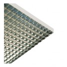 "Liteline PL2/2-14 SP-S - Specular Silver Plastic Parabolic Styrene Louver - Ceiling Style (style 2) (cell size: 1-1/2"" × 1-1/2"" × 1"") - 11-3/4"" × 47-3/4"""