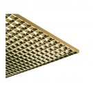 "Liteline PL5/2-24 SP-G - Specular Gold Plastic Parabolic Styrene Louver - Ceiling Style (style 2) (cell size: 3/4"" × 3/4"" × 3/8"") - 23-3/4"" × 47-3/4"""