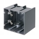 Arlington F102GC - One Box Non-Metallic Outlet Boxes - 2-Gang - 25 Packs