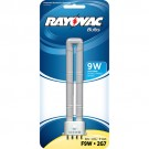 Rayovac F9W-1 - 9 Watt Compact Fluorescent Tube - Single U - 4 Pin - For Rayovac 9 Watt 8D Area Lantern