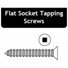 8 x 4 Flat Socket Tapping Screws - Price for Pack of 100 PCS - Hold-Tite STPFS8400