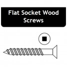 4 x 3/8 Flat Socket Wood Screw - Price for Pack of 100 PCS - Hold-Tite SWDFS43800