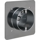 """Arlington FR420FGC - Non-Metallic Flange Box for 1/2"""" or 1-1/4"""" Flat or Stucco Surfaces - High Strength Polycarbonate - Black - 10 Packs"""