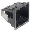 Arlington FSR404BL - Non-Metallic and Plated Steel 4x4 Box - Black - 25 Packs