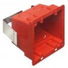 Arlington FSR404RD - Non-Metallic and Plated Steel 4x4 Box - Red - 25 Packs