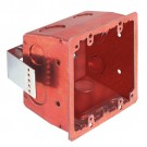 Arlington FSR404SRD - Metallic and Plated Steel 4x4 Box - Red - Plated Steel - 25 Packs
