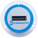 Intermatic Grasslin FWZ72B-240U - AC Hour Meter - Flush Mount - Blue-Silver on Colorless Frosted Polycarbonate - 240V 60Hz